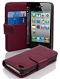 Cadorabo Coque pour Apple iPhone 4 / iPhone 4S / 4G ORCHIDÉE Violets Housse de...