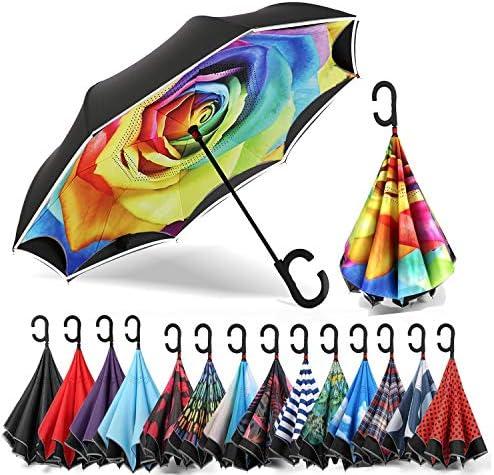 Siepasa Auto open Reverse Umbrella Umbrella Windproof Inverted Umbrella Umbrellas for Women product image