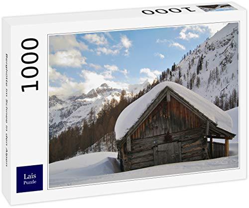 Lais Puzzle Rifugio nella Neve nelle Alpi 1000 Pezzi