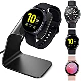 NANW Charger Dock Compatible with Samsung Galaxy Watch 3 41mm 45mm/ Active 2 40mm 44mm/Active, USB Replacement Charging Cable Dock Stand Station Base Accessories for Galaxy Watch,Black