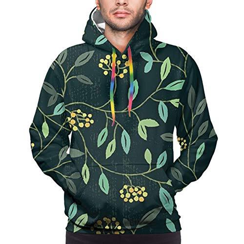 Floral Summer Unisex Pullover Pareja Sudadera con Capucha Sudadera con Capucha Colorful XL