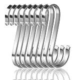 16 Paquete Ganchos S, Ganchos en Forma de S Acero Inoxidable Ganchos Cocina Metal Ganchos para Colgar el Gabinete de la...