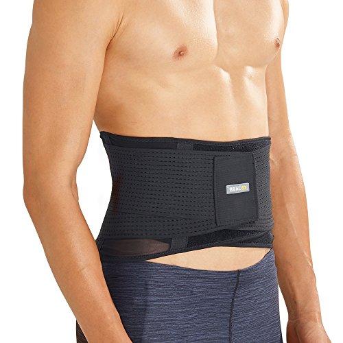 BRACOO BP60 atmungsaktive Rückenbandage - Rückenstabilisator - breite Rückenstütze – Lumbalbandage für Damen und Herren - M