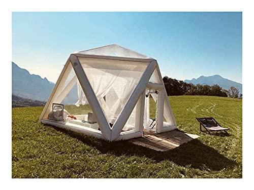 RSBCSHI Design transparent Camping Zelt Luft Hotel Zelt aufblasbare Blase fußball Dome Zelt Panorama Lounge Zelt outdoorzelt Reisen homestay (Size : 10 Ft)