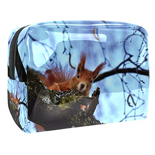 Maquillage Cosmetic Case Multifunction Travel Toiletry Storage Bag Organizer for Women - Cute Squirrel Tree