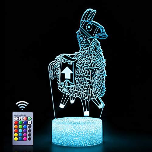 Lamm Illusion Nachtlicht, WHATOOK 3D Licht mit 16 Farben Wechsel Fernbedienung, perfekte Weihnachtsgeschenke Geburtstagsgeschenk für Jungen