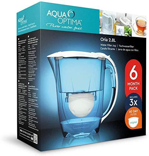 Aqua Optima Oria Krug mit 9 Patronen, Blau