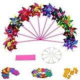 KOFUN Molino, 10 Unidades De Plástico Molino De Viento Molinillo De Viento Wind Spinner Kids Toy Garden Lawn Party Decor Lentejuelas
