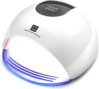 ArtLed - Lámpara de uñas (80 W, secado rápido de uñas para esmalte de gel, USB Smart Timing 10/30/60/120s, posición de sensor automático, herramienta de manicura, color blanco