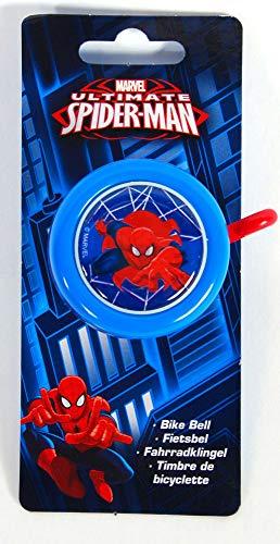 Kubbinga Kinder Marvel Spider-Man Fahrradklingel, blau, Einheitsgröße