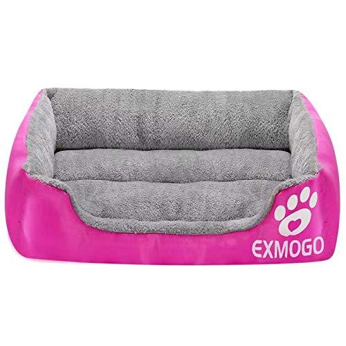 EXMOGO Cuccia per Cani Cuccia per Gatti, morbide e comode cucce per Animali con Cotone PP, Adatte per Animali di Piccola, Media e Grande Taglia L: 69 x53 x15 cm(27'x21 x6), Rosa