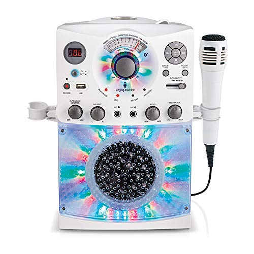 Singing Machine Karaoke Machine, White (SML385BTW)