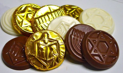 2 pack - Sugar Free Hanukkah Gelt, 1/2 oz Foil Wrapped Coins (2 - 6 packs)