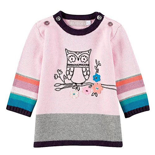 Boboli - Baby Mädchen Kleid Strickkleid, rosa - 202037, Größe 86