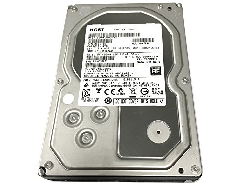 HGST Ultrastar 7K4000 4TB 64MB Cache 7200RPM SATA 6.0Gb/s 3.5inch Internal Hard Drive (for NAS, Desktop PC/Mac, Surveillance Storage, CCTV DVR) - 5 Year Warranty (Renewed)