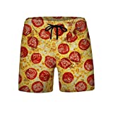 N\P Pantalones cortos unisex de cintura elástica para hombre, para verano,...