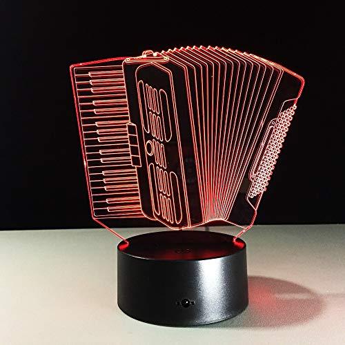 Fisarmonica per organo Musica Cambio colore Innovazione Luce notturna Sensore di tocco Luce Novità Lampada regalo Lampada lava