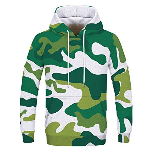 Homme/Femme Long Sleeve Camouflage Casual Hoodies Soft & Cozy Hooded Sweatshirts Sports Tops 290 XXL