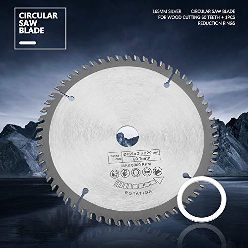6.5 pulgadas de corte disco TCT Circular Saw Blade aleación dura con anillos de reducción para corte de hierro de cobre
