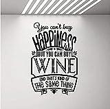 Bar Cafe Logo Etiqueta De La Pared No Puedes Comprar La Felicidad, Pero Puedes Comprar Vino Etiqueta De La Pared Cita Decoración Del Hogar 57X37Cm
