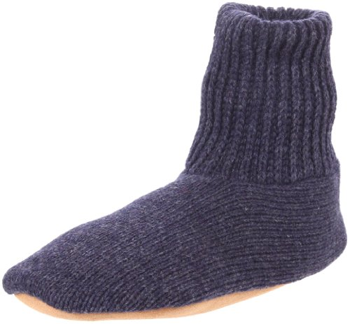 MUK LUKS Men's Morty Slipper,Navy,Large(10-11)