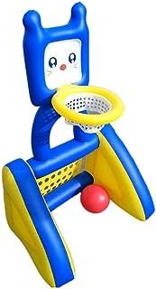SYXX Portátiles infantil Piscina al aire libre, Estante inflable de baloncesto de los niños, Fútbol neto, 2-en-1, for niños juguetes inflables, juguetes entre padres e hijos, interior y exterior las p