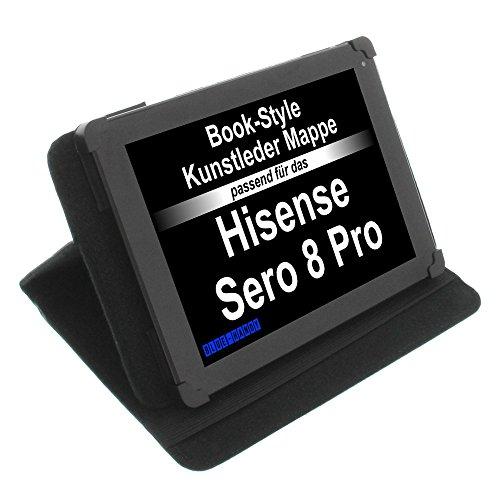 foto-kontor Tasche für Hisense Sero 8 Pro Book Style Schutz Hülle Buch schwarz