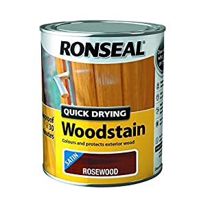 Ronseal Quick Drying Woodstain Rosewood Satin 750ml