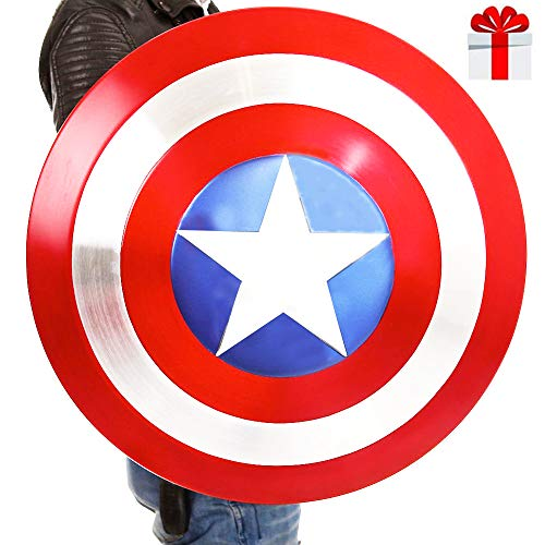 B&T Captain America Shield Full Metal Handheld Movie Edition Bar Creative Soft Decoración de la Pared Colgante Aluminio America Men Props Adulto Cosplay Shield