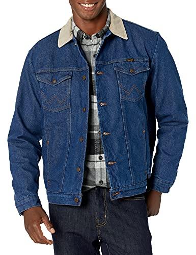 Wrangler Men's Tall And Big Blanket Lined Denim Jacket, Denim/Blaket, 42