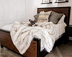 INNOVATIVE DESIGN: Stylish option to protect furniture, car seats and other areas from pet hair, dirt, spills and scratching damage. The innovative pet blanket provides protection from pets while serving as an attractive throw on your couch or bed. I...