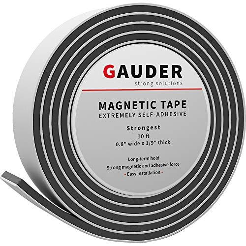 GAUDER Nastro Magnetico Autoadesivo Extra Forte | Banda Magnetica Adesiva | Striscia Calamita
