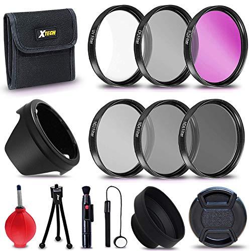 Xtech 55mm PRO Lens Accessories Kit w/ (UV FLD CPL), ND Filters, Lens Hoods for Nikon D3400 D3500 D5600 Alpha Series A99 A77 A58 A57 A65 A55 A 390 A100 A33 A900 A850 A700 A500 A330 A300 A230