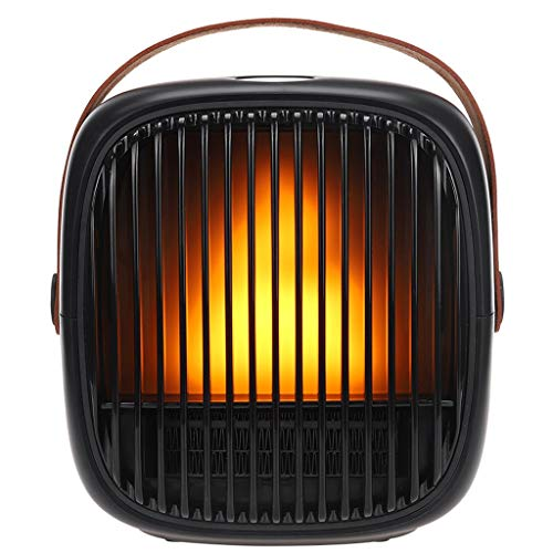 Space Heater,Personal Small electric space heater 800W Portable Quiet Space Heater for indoor bedroom with flame flickered Tip Over & Overheat Protection 8H Timer