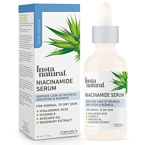 InstaNatural Niacinamide 5% Face Serum - Vitamin B3 Anti Aging Skin Moisturizer - Diminishes Breakouts, Wrinkles, Lines, Age Spots, Hyperpigmentation, Dark Spot Remover for Face - 2 oz