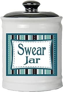 Cottage Creek Funny Gifts Round Ceramic Swear Jar Piggy Bank/Cussing Jar Curse Jar Swear Bank Fun Novelty Gifts [White]