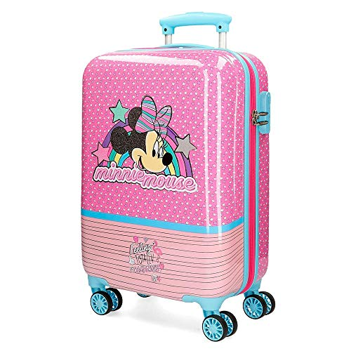 Disney Minnie Pink Vibes Pink Cabin Suitcase 37 x 55 x 20 cm Rigid ABS Combination Lock 32 Litre 2.5 kg 4 Double Wheels Hand Luggage