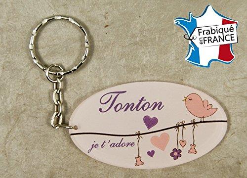 Porte Clef - Tonton je t'adore (Cadeau anniversaire, noël, annonce de naissance .)