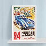 YTYTOO Stilvolles Wohnzimmer Poster, Le Mans 24 Stunden