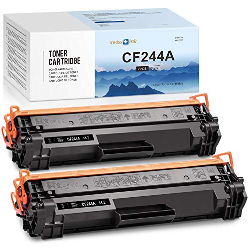 Swiss Ink - Cartucho de tóner compatible con HP 44A CF244A para HP Laserjet Pro M15a M15w MFP M28a M28w (1000 páginas, 2 en negro)