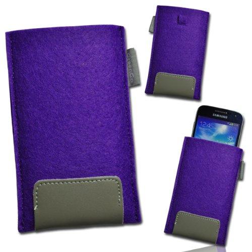 Handy Tasche Einschubtasche Etui Hülle Case lila / violett / grau W15 Gr.4 für Nokia Lumia 900 / Huawei Ascend D quad / Huawei Ascend D quad XL / Sony Xperia Ion / Huawei U9200 Ascend P1 / Samsung Galaxy S2 i9210 LTE / Samsung Galaxy Nexus / Base Lutea 2