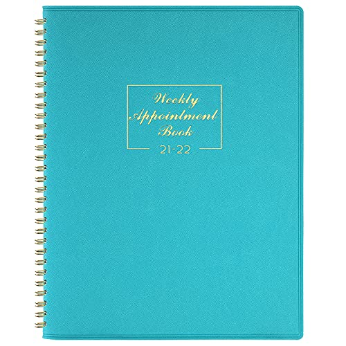 """2021-2022 Weekly Appointment Book & Planner - 2021-2022 Daily Hourly Planner 8.4"""" x 10.6"""", July 2021- June 2022, 15-Minute Interval, Flexible Soft Cover, Twin-Wire Binding, Perfect for Your Life"""