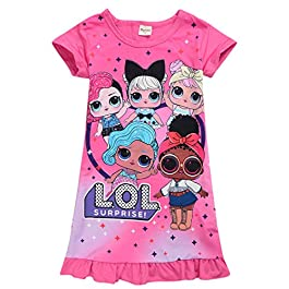 Pyjama taille longue confortable pour jeune fille motif LOL Surprise