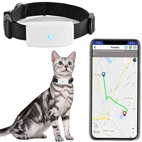 Price comparison product image Zeerkeers Dog GPS Tracker,  Real-time Pet GPS Tracker Activity Monitor with SOS Alarm,  Waterproof Tracking Collar for Dogs,  and Cats,  APP Control