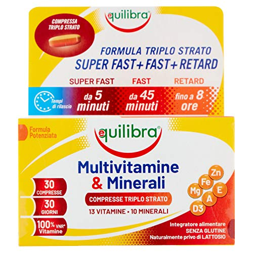 Equilibra Multivitamine e Minerali 30 Compresse Triplo Strato, 40.5g