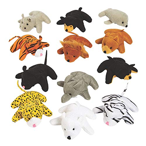 Fun Express 25pc Mini Zoo Plush Animal Set - Toys - Plush - Stuffed Zoo & Safari - 25 Pieces