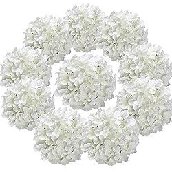 cheap Flojery Silk Hydrangea Head Artificial Flower Head With Stem Home Wedding Decoration, Packaging …