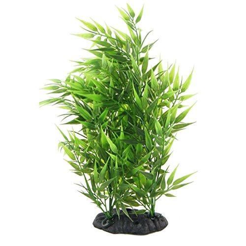 SODIAL(R) Vert Forme Feuilles de Bambou Decoratif Gazon Artificiel pour Aquarium Reservoir de Poissons