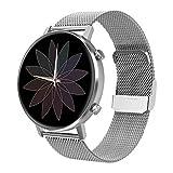 Padgene Orologio Fitness Uomo Donna, Smartwatch IP67 Impermeabile Touchscreen Smart Watch con Cardiofrequenzimetro da Polso Contapassi Compatibile per iOS, Android (Argento)
