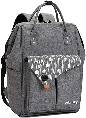 Lekesky Laptop Rucksack 15.6 Pulgadas de la Bolsa de la Mochila de la computadora para los Hombres de la Universidad de Negocios de Viaje (Size : A01 Grey)